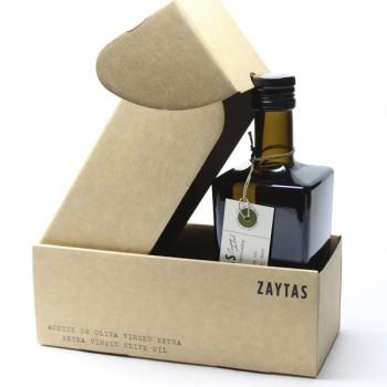 Caja con una botella de Aceite de Oliva Virgen Extra de Zaytas