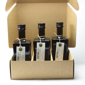 Caja para 3 botellas de Aceite de Oliva Virgen Extra de Zaytas