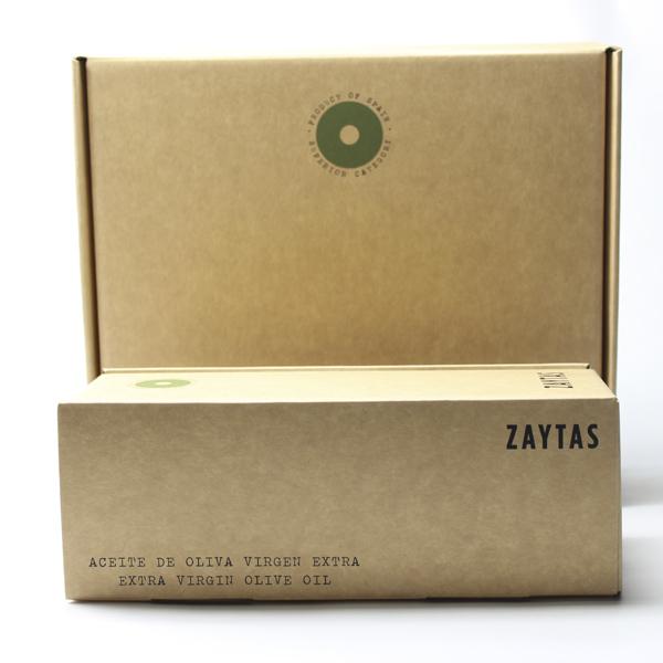 Cajas para botellas de Aceite de Oliva Virgen Extra de Zaytas