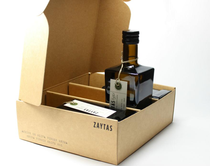 Estuche 3 botellas aove zaytas. aceite de oliva virgen extra de toledo