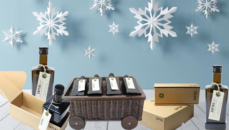 estuches de regalo con aceite de oliva virgen extra (aove) especial navidad
