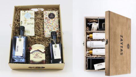 Estuche de regalo con aceite de oliva virgen extra. regalo de empresa con aceite de oliva
